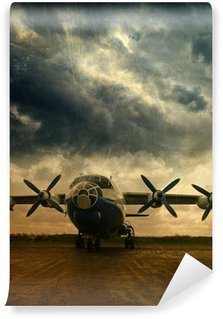 Vinyl Wall Mural Retro aviation, grunge background