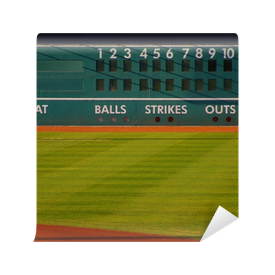Retro baseball scoreboard with blank home and visitor for Baseball scoreboard wall mural