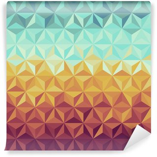 Retro hipsters geometric pattern. Wall Mural - Vinyl