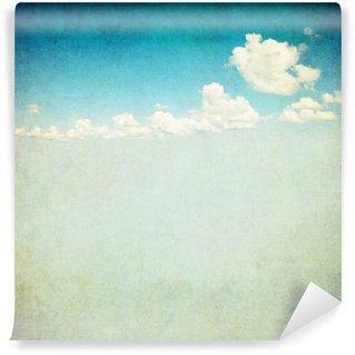 Wall Mural - Vinyl retro image of cloudy sky