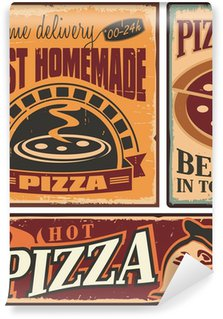 Retro metal signs set for pizzeria or Italian restaurant Wall Mural - Vinyl