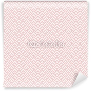 Wall Mural - Vinyl Retro Seamless Pattern Little Corners Rose