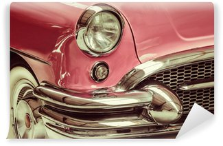 Vinyl Wall Mural Retro styled image of a front of a classic car