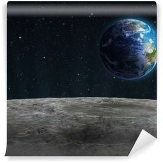 Rising Earth seen from the Moon Wall Mural - Vinyl
