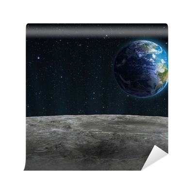 Rising earth seen from the moon wall mural pixers we for Earth moon wall mural