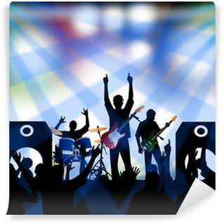 Rock concert vinyl wall murals pixers we live to change for Concert wall mural
