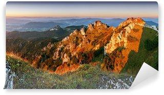 Vinyl Wall Mural Rocky peak at sunset - Rozsutec