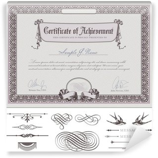 Wall Mural - Vinyl romantic certificate template (download without sample text)