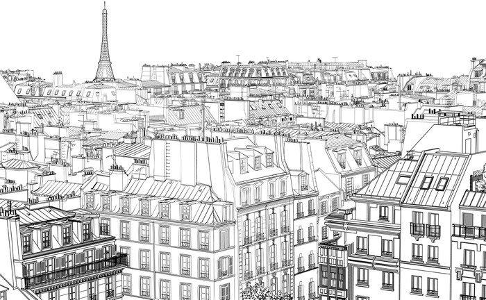 Vinyl Wall Mural roofs in Paris - Styles