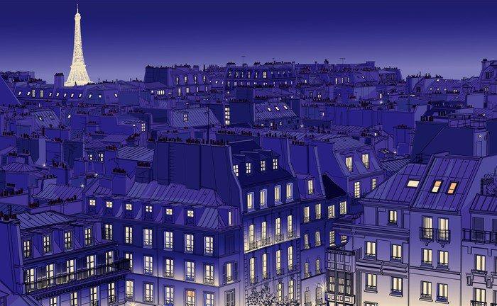 Wall Mural - Vinyl roofs in Paris -