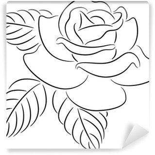 Rose contour Wall Mural - Vinyl