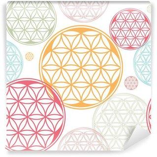 Wall Mural - Vinyl sacred geometry flower of life seed pattern