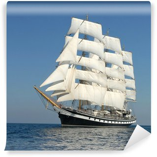 Wall Mural - Vinyl Sailing ship. series of ships and yachts