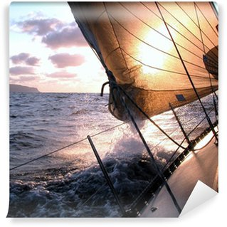 Wall Mural - Vinyl sailing to the sunrise