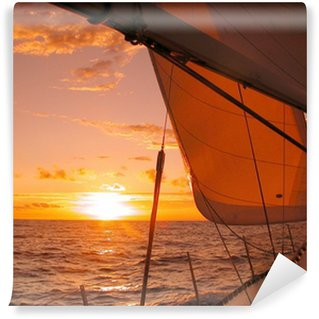 Wall Mural - Vinyl sailing to the sunset