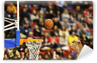 Wall Mural - Vinyl Scoring the winning points at a basketball game