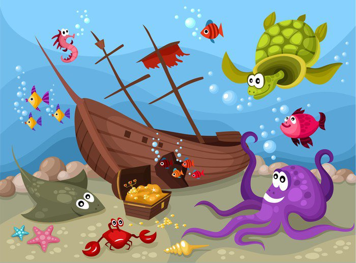 Wall Mural   Vinyl Sea Life   Themes Part 60