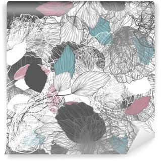 Wall Mural - Vinyl Seamless Abstract Floral Pattern