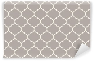 Wall Mural - Vinyl Seamless anthracite gray wide moroccan pattern vector