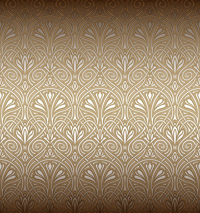 seamless art nouveau pattern wall mural vinyl pixers. Black Bedroom Furniture Sets. Home Design Ideas