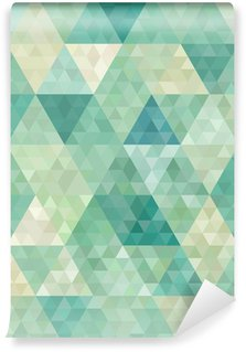 Wall Mural - Vinyl seamless background with abstract geometric ornament