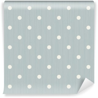 Vinyl Wall Mural Seamless background with lines and polka dots