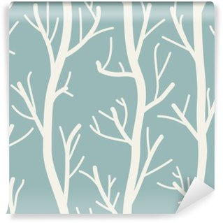 Seamless background with trees Wall Mural - Vinyl