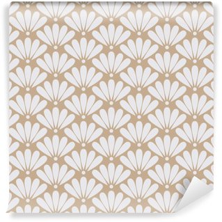 Seamless beige oriental floral pattern vector Wall Mural - Vinyl