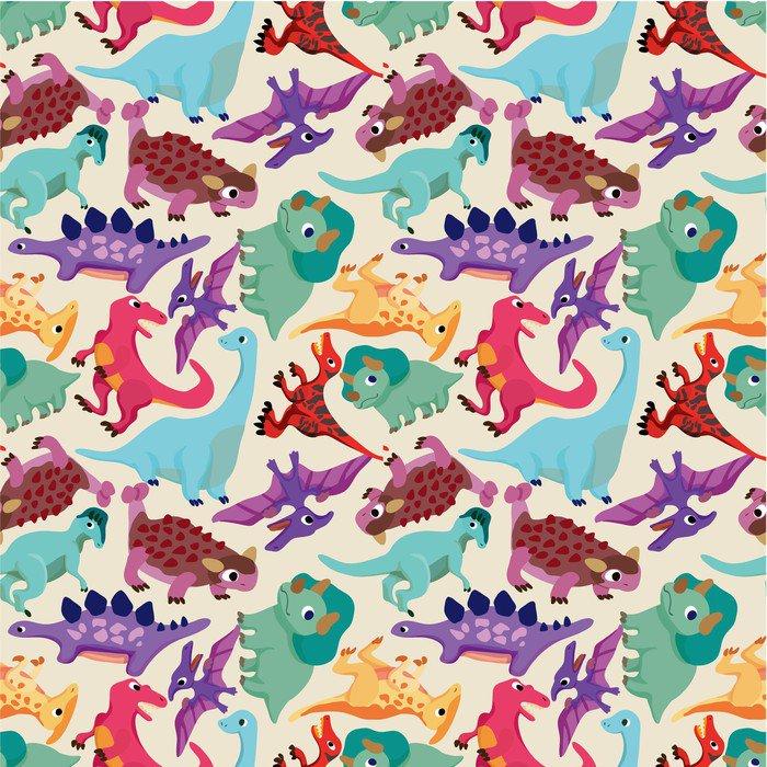 seamless dinosaur pattern Wall Mural