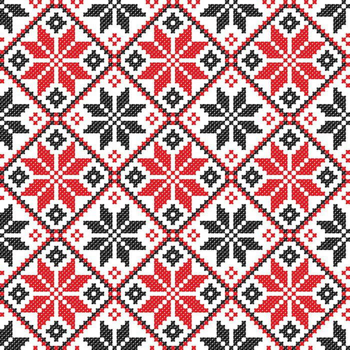 Seamless embroidered good like handmade cross stitch for Cross stitch wall mural