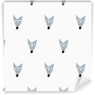Wall Mural - Vinyl seamless fox pattern
