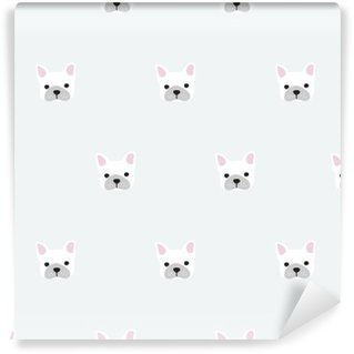 Wall Mural - Vinyl seamless french bulldog pattern