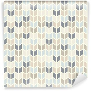 Wall Mural - Vinyl Seamless geometric pattern in pastel tints