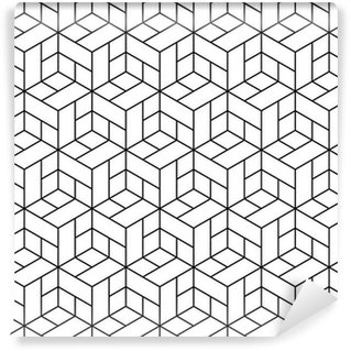 Seamless geometric pattern with cubes. Wall Mural - Vinyl