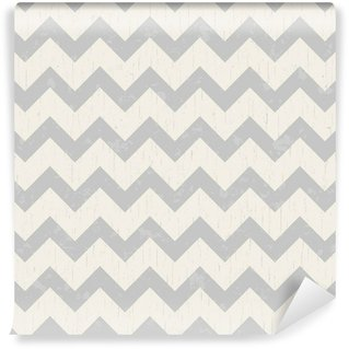 Wall Mural - Vinyl seamless grey chevron background