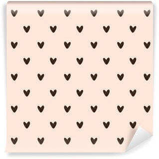 Wall Mural - Vinyl seamless heart pattern