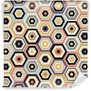 Vinyl Wall Mural seamless hexagon pattern