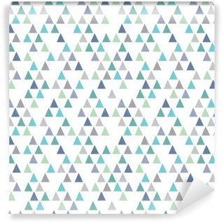 seamless hipster geometric pattern triangles aqua blue