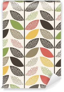 Wall Mural - Vinyl seamless leaf pattern background
