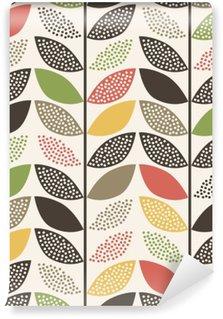 Vinyl Wall Mural seamless leaf pattern background