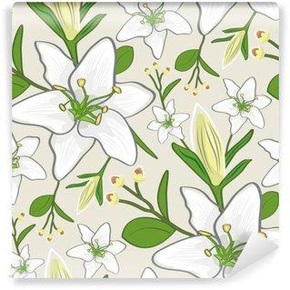 seamless lily wallpaper pattern Wall Mural - Vinyl