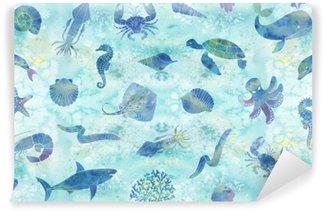 Wall Mural - Vinyl Seamless marine background
