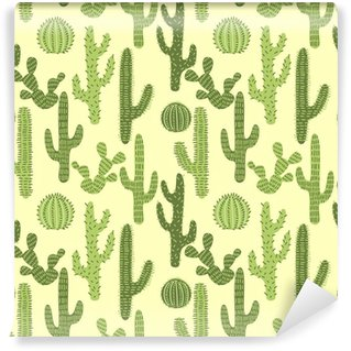 Seamless pattern with cactuses #1 Wall Mural - Vinyl