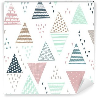 Seamless pattern with decorative hand-drawn triangles.