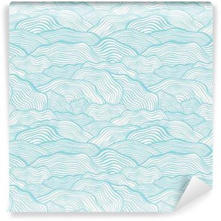 Wall Mural - Vinyl Seamless pattern with wavy scale texture