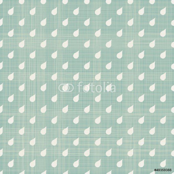 Wall Mural - Vinyl seamless rain polka dot pattern - Backgrounds