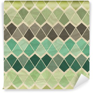 Wall Mural - Vinyl Seamless retro geometric pattern.