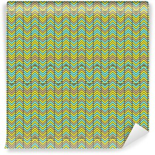 Wall Mural - Vinyl Seamless stylized geometric pattern with zigzags and triangles
