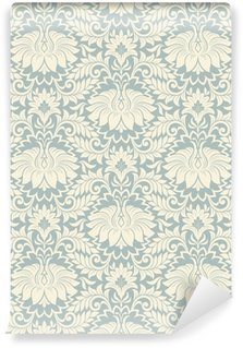 Wall Mural - Vinyl seamless vintage flower pattern background vector
