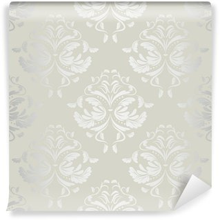Wall Mural - Vinyl seamless wallpaper.damask pattern.floral background